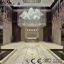 New Design Crystal Luxury Project pendant Lamp with Lobby